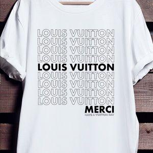 68b4747a4d31 Louis Vuitton Tops - Louis Vuitton Merci T-Shirt (Unisex)